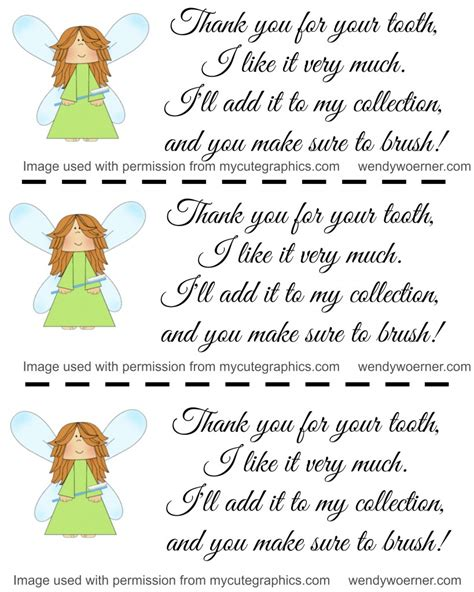 Free Printable Notes From The Tooth