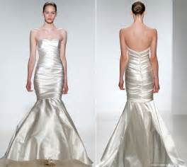 Kenneth pool duchess satin mermaid bridal gown recent bridal 2015