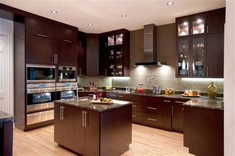 Black And White Kitchen Cabinet Designs by Brown Kitchen Decorating Ideas Quicua Com