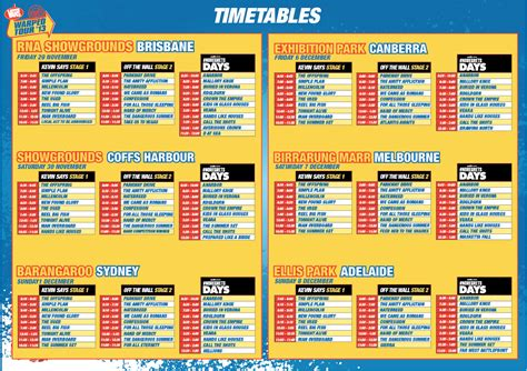 vans warped tour 2013 timetable released spotlight