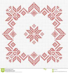 ornament cross stitch scandinavian style cross stitch pattern stock vector
