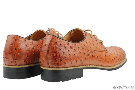 ostrich skin loafers mens leather lined brown black ostrich skin look smart