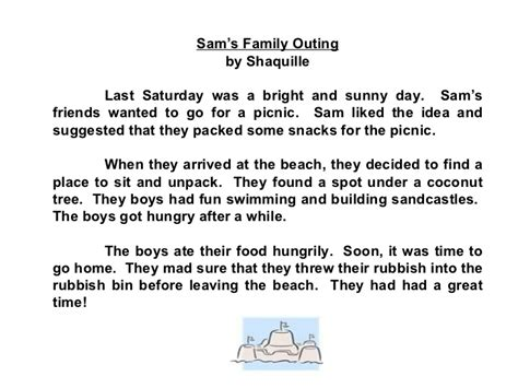 A Family Outing Essay compositions a outing read your friends compositions an