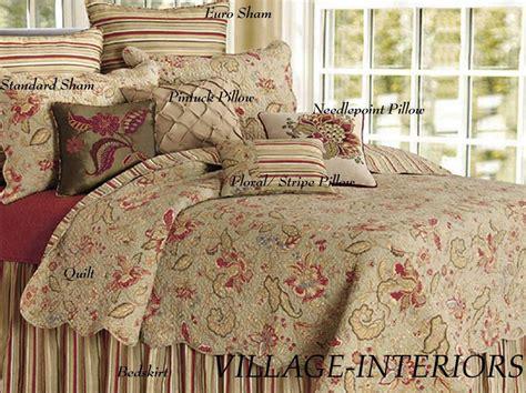 Quilts And Shams For Sale Sale 100 Cotton King Quilt Shams Set Jacobean