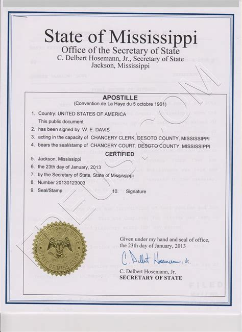 Mississippi Divorce Records Mississippi Apostille The Following Documents Are