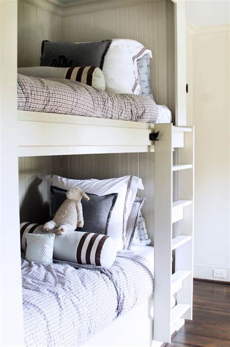 built in bunk beds cottage boy s room hickman design cottage boys bedroom with built in bunk beds cottage
