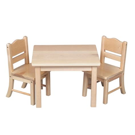 montessori materials doll table and chair set