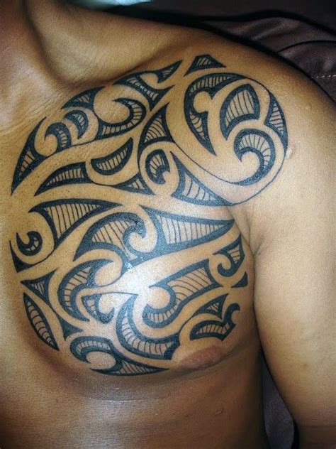 mens tribal chest tattoos 50 tribal chest tattoos for masculine design ideas