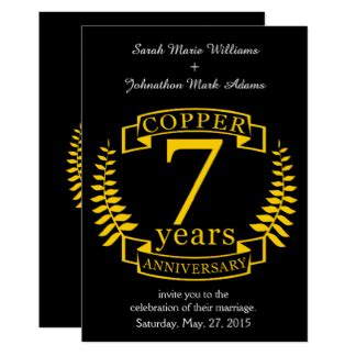 7 Year Wedding Anniversary Card by 7 Year Anniversary Gifts On Zazzle