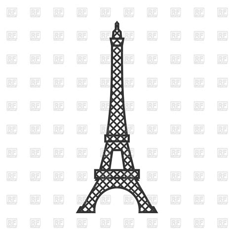 clipart vector eiffel tower royalty free vector clip image 139362