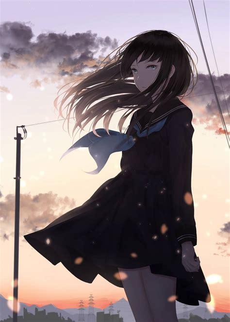 sad anime girl wallpapers top  sad anime girl