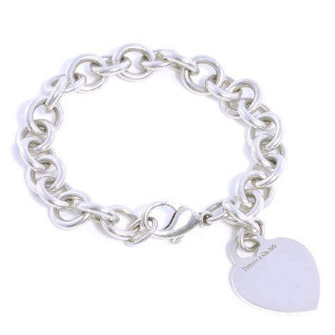 TIFFANY & CO Sterling Silver Heart Tag Charm Bracelet 40119
