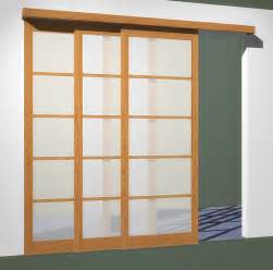 Sliding doors 3 tracks fits openings less than 102in x 96in