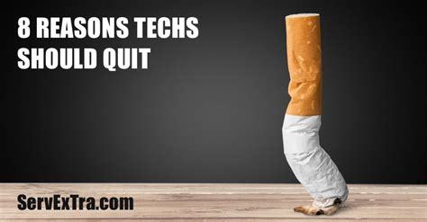 8 Reasons To Quit Your by 8 Reasons Techs Should Quit Service Excellence