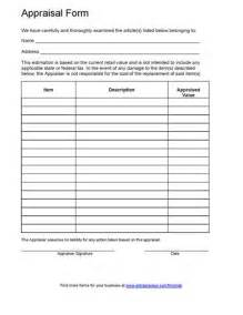 appraisal form template free printable