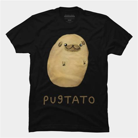 Design By Humans T Shirts | pugtato t shirt by sophiecorrigan design by humans