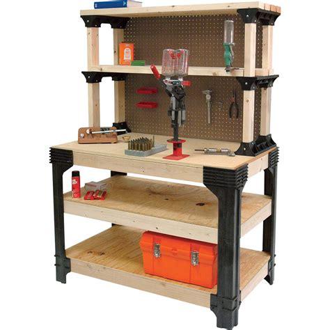 diy workbench kit 2x4 basics anysize workbench kit with shelflinks model