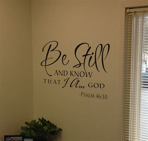 scripture wall stickers be still scripture