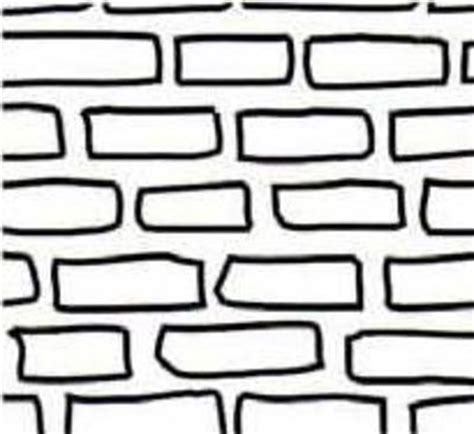 full page printable brick pattern sketch coloring page