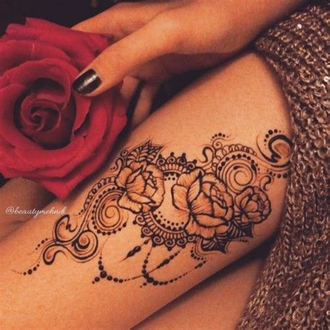 henna rose tattoo tumblr henna arrangement for thigh henna