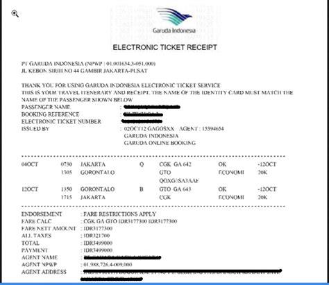tiket bussiness garuda cara cek harga tiket pesawat yang sudah lewat melalui kode