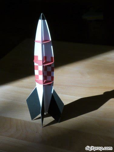 take to the paper rocket digitprop paper design