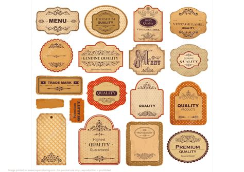 craft paper labels printable vintage labels with papers and ornaments