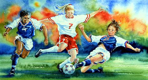 soccer painting american s soccer wall mural room decor