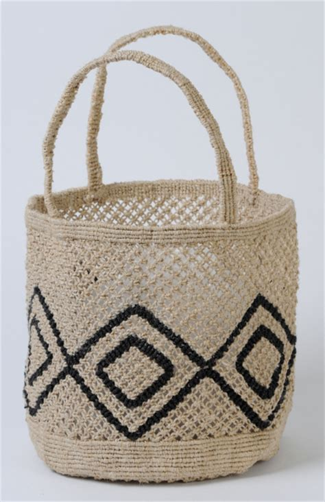 Macrame Thread Bags - small jute macrame bag