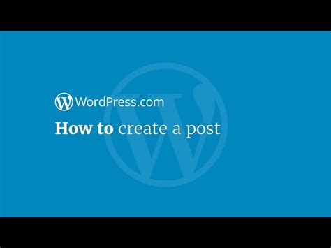 wordpress tutorial how to post wordpress tutorial how to create a post