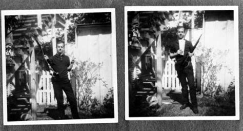 oswald backyard photo dallas police department photos from kennedy assassination