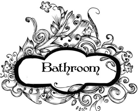 fancy bathroom signs second life marketplace fancy bathroom sign