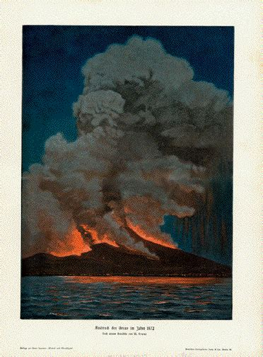 the eruption of vesuvius in 1872 classic reprint books antique prints of volcanos and volcanology vulkane
