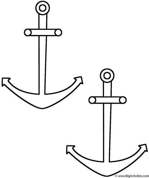 coloring page anchor anchors coloring page sea marine