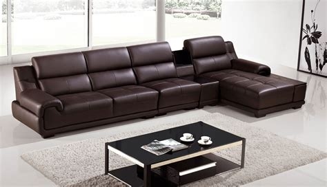 dark chocolate couch quadro genuine dark chocolate leather modern sectional set