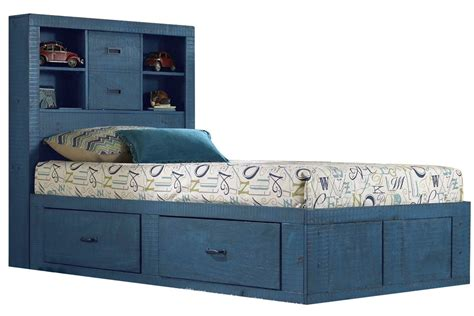 blue twin bed blue twin captains bed