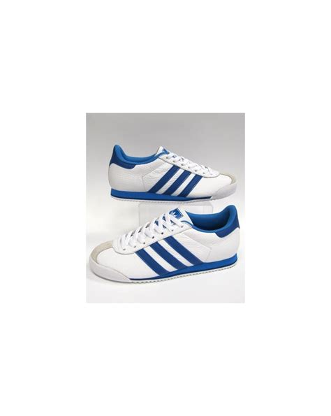 Adidas Prewalker White Blue adidas kick trainers white royal blue originals adidas