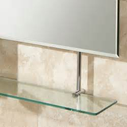 mirror shelf bathroom hib tapio bathroom mirror with glass shelf
