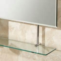 bathroom glass mirror hib tapio bathroom mirror with glass shelf