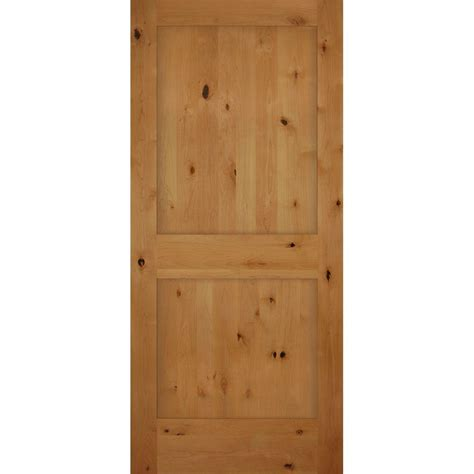 Alder Interior Doors Builder S Choice 36 In X 80 In 2 Panel Shaker Solid Knotty Alder Single Prehung Interior