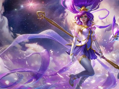 league  legends star guardian janna splash art artwork