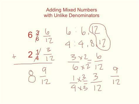 Adding And Subtracting Mixed Numbers With Unlike Denominators Worksheets by Add Subtract Mixed Numbers W Unlike Denominators