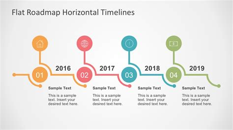road map timeline flat roadmap horizontal timelines for powerpoint