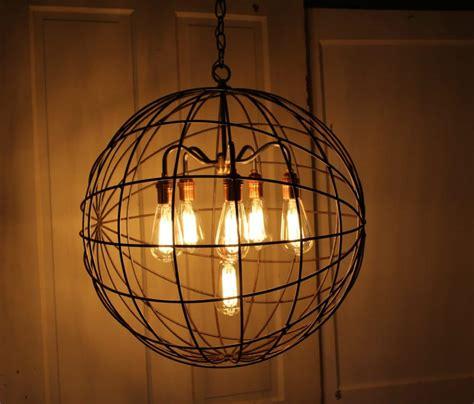 Sphere Chandelier Orb Chandelier Industrial Sphere Id Lights