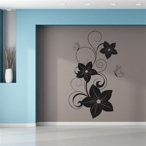 flowers and butterflies wall stickers wallstickers folies flower butterflies wall stickers