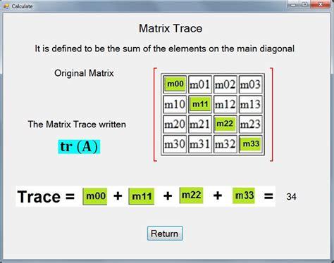 figure 9 visual element analysis matrix for the reference exemplars mathematics matrices with visual studio 2008 c windows