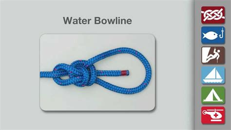 water knot how to tie the water knot rescue knots water bowline how to tie a water bowline knot youtube
