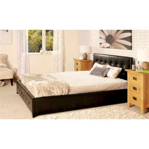 Upholstered Ottoman Storage Bed Sorrento Faux Leather Upholstered Storage Ottoman Mattress Set