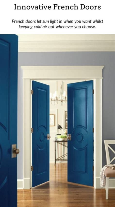 french doors add  bit  beauty   home