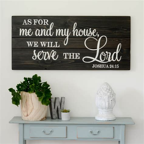 as for me and my house sign we will serve the lord sign aimee weaver designs llc